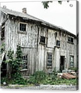 Big Old Barn - Rustic - Agricultural Buildings Acrylic Print by Gary Heller