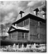 Big Otter Mill Ca 1785 Bw Acrylic Print