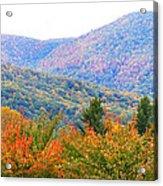 Big Pisgah Mountain In The Fall Acrylic Print
