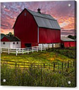 Big Red At Sunset Acrylic Print