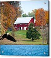 Big Red Barn Eagle Rocky Fork  Acrylic Print