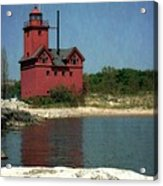 Big Red Holland Michigan Lighthouse Acrylic Print