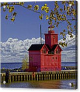 Big Red Lighthouse By Holland Michigan No.0255 Acrylic Print