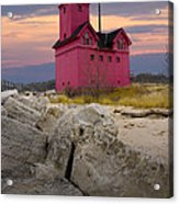 Big Red Lighthouse By Holland Michigan Acrylic Print