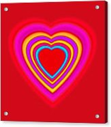 Big Red Love Acrylic Print