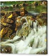 Big River  Waterfall And Dam Acrylic Print
