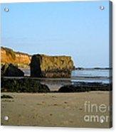 Big Rock On San Simeon Beach Acrylic Print