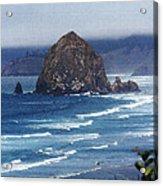 Big Rock On The Oregon Coast Acrylic Print