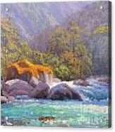 Big Rocks Holyford River Acrylic Print