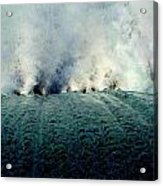 Big Splash Of Mammoth Springs Dam Acrylic Print