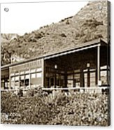 Big Sur Hot Springs Now The Esalen Institute California Circa 1961 Acrylic Print
