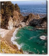 Big Sur - Mcway Falls Acrylic Print by Glenn McCarthy Art and Photography