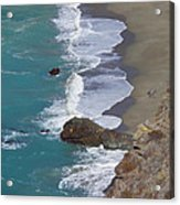 Big Sur Surf Acrylic Print by Art Block Collections