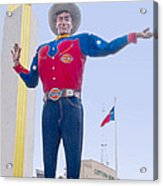 Big Tex And The Cotton Bowl  Acrylic Print