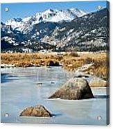 Big Thompson River Through Moraine Park In Rocky Mountain National Park Acrylic Print