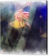Big Top Elephant Riding Photo Art Acrylic Print