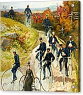 Big Wheel Bicycles Acrylic Print