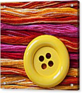 Big Yellow Button  Acrylic Print