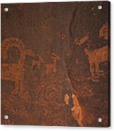 Bighorn Sheep Petroglyph Zion National Park Acrylic Print