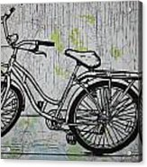 Bike 5 On Map Acrylic Print by William Cauthern