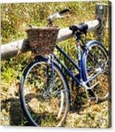 Bike At Nantucket Beach Acrylic Print