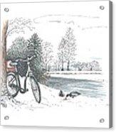 Bike In The Snow Acrylic Print