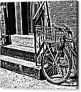 Bike In The Sun Black And White Acrylic Print