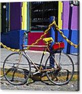 Bike La Boca Acrylic Print