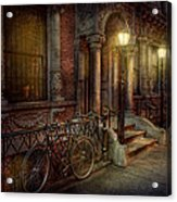 Bike - Ny - Greenwich Village - In The Village  Acrylic Print
