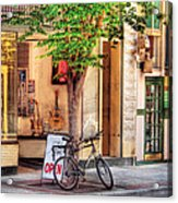 Bike - The Music Store Acrylic Print