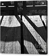 Bike Trail Bridge Bw Acrylic Print