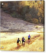 Bikers On Foresthill Divide Trail Acrylic Print