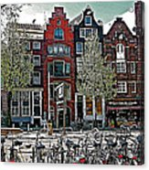 Bikes Everywhere In Amsterdam-netherlands Acrylic Print