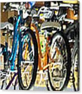 Bikes Hanging Around Acrylic Print