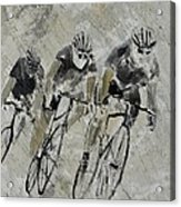 Bikes In The Rain Acrylic Print