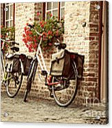 Bikes In The School Yard Acrylic Print