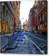 Bikes In The Snow Acrylic Print