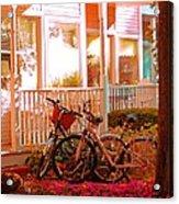 Bikes In The Yard Acrylic Print