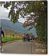Biking Thru Cades Cove Acrylic Print