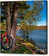 Biking To Horseshoe Lake Acrylic Print