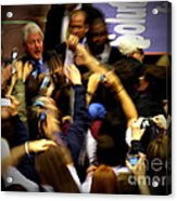 Bill Clinton At Muhlenberg College Acrylic Print by Jacqueline M Lewis
