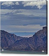 Bill Cody Reservoir From Sheep Mountain  Panoramic  Signed  25.75x78 Acrylic Print