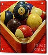 Billiards - 9 Ball - Pool Table - Nine Ball Acrylic Print