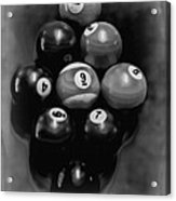 Billiards Art - Your Break - Bw  Acrylic Print