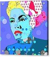 Billie Holiday Acrylic Print by Ricky Sencion