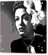 Billie Holiday Singer Song Writer No Date-2014 Acrylic Print