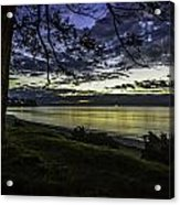 Billow Blue Acrylic Print