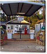 Billy Carters Old Service Station In Plains Georgia Acrylic Print