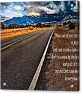Billy Graham Quote Guidance Acrylic Print