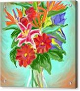 Billys Flowers Acrylic Print